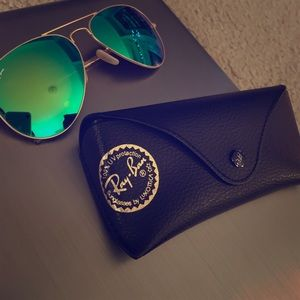 Blue-Green Authentic Ray Bans